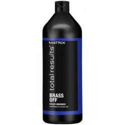 Matrix Total Results Color Obsessed Brass Off - Кондиционер для глубокого питания холодный блонд, 1000 мл