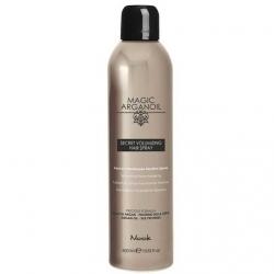 Nook Secret Volumizing Hairspray - Лак для объемных укладок волос Магия Арганы, 400 мл