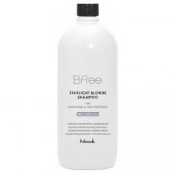 Nook Bfree Starlight Blonde Shampoo - Шампунь сияющий для волос цвета Блонд, 1000 мл