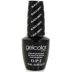Opi GelColor Black Onyx, - Гель-лак для ногтей, 15мл