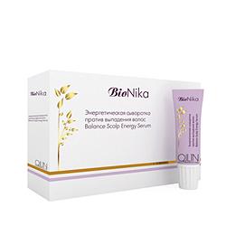 Ollin BioNika Balance Scalp Energy Serum - Энергетическая сыворотка против выпадения волос 10*15 мл. Общий объем: 150 мл
