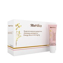 Ollin BioNika Energy Serum Anti-Aging - Энергетическая сыворотка «Эликсир молодости» 10*15 мл. Общий объем: 150 мл