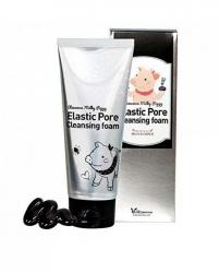 Elizavecca Milky Piggy Elastic Pore Cleansing Foam - Пенка-маска с древесным углем для очищения и сужения пор, 120 мл