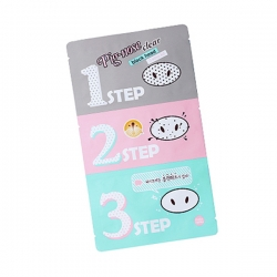 "Holika Holika Pig-nose clear black head 3 step kit - 3-х ступенчатый набор средств для очистки пор ""Пиг-ноуз"", 7 г"