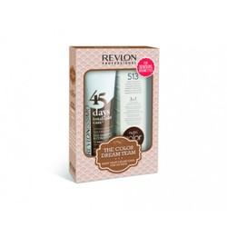 Revlon Revlonissimo Color Care -  Набор для брюнеток: шампунь-кондиционер, коктейль-крем 3 в 1 (The Color Dream Team Kit For Sensual Brunettes), 275мл+ 100мл