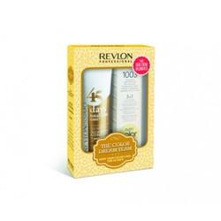 Revlon Revlonissimo Color Care -  Набор для теплых оттенков блонд: шампунь-кондиционер, коктейль-крем 3 в 1 (The Color Dream Team Kit For Golden Blondes), 275мл+ 100мл