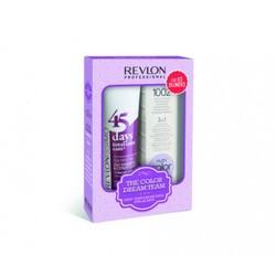 Revlon Revlonissimo Color Care - Набор для холодных оттенков блонд: шампунь-кондиционер, коктейль-крем 3 в 1 (The Color Dream Team Kit For Ice Blondes), 275мл+ 100мл