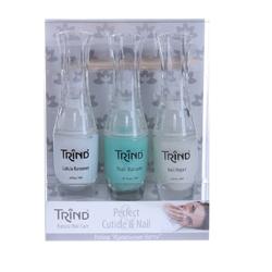 Trind «Perfect Cuticle & Nail» Set - Набор по уходу за ногтями «Идеальные ногти» 3*9 мл+2 шт. Общий объем: 27 мл