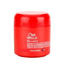 Wella Brilliance Line Крем-маска для окрашенных жестких волос 150 мл