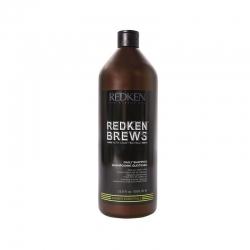 Redken Brews Daily Shampoo - Шампунь для ежедневного ухода за волосами и кожей головы, 1000 мл