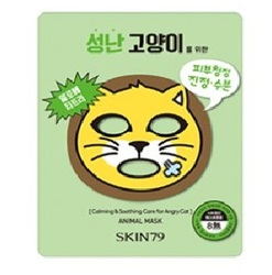 Skin79 Animal Mask for angry cat - Тканевая маска для лица успокаивающая и смягчающая кожу, 23г