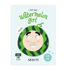 Skin79 Fruit mask Watermelon Girl - Тканевая маска для лица с натуральным экстрактом арбуза, 23г