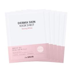 The Saem Derma Skin Mask Sheet - Toning White - Маска тканевая осветляющая,  28 мл
