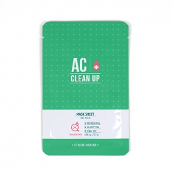 Etude House AC Clean Up Mask Sheet - Маска тканевая для проблемной кожи 20 мл