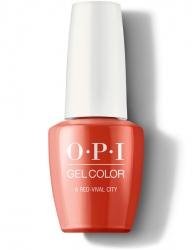 OPI Lisbon Gel Color - Гель-Лак для ногтей A Red-vival City, 15 мл