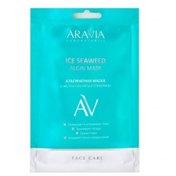 Aravia Laboratories Ice Seaweed Algin Mask - Альгинатная маска с экстрактом мяты и спирулины, 30г