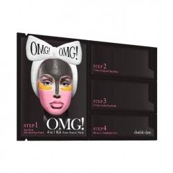 Double Dare OMG! KIT Zone System Mask - Маска четырехкомпонентная для ухода за кожей лица, 4в1