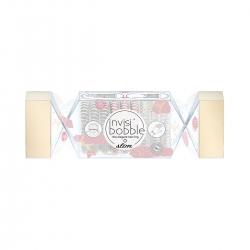 Invisibobble SLIM Trio Cracker That's Crackin' - Подарочный набор прозрачный/розовый/серебряный, 9шт