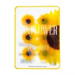 Kocostar Mask Sheet Sunflower - Маски-слайсы тканевые с экстрактом подсолнуха, 20 мл