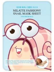 Milatte Fashiony Snail Mask Sheet - маска с экстрактом слизи улитки, 21 г