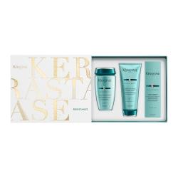 Kerastase Resistance - Подарочный набор для поврежденных и ослабленных волос (Шамп+молочко+термоуход)