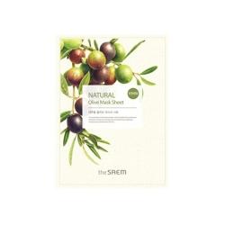 The Saem Natural Olive Mask Sheet - Маска тканевая с экстрактом оливы, 21 мл