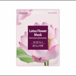 The YEON Lotus Flower Mask Whitening & Brightening - Маска тканевая осветляющая с экстрактом лотоса, 22мл