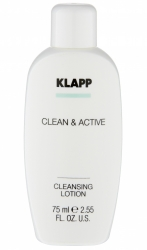 Klapp Clean And Active Cleansing Lotion - Мягкое очищающее молочко, 75 мл