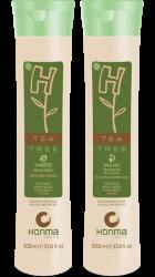 Honma Tokyo H-Tea Tree - Набор для нормализации волос с жирной кожей головы (Шампунь+Маска), 2*1000 мл