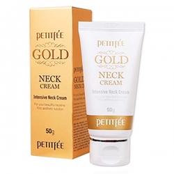 Petitfee Gold Neck Cream - Крем для шеи антивозрастной, 50 г