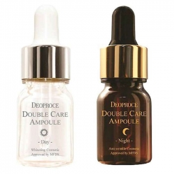 Deoproce Double Care Ampoule Day Night Single Pack - Сыворотка для лица антивозрастная, 13 мл*2