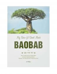 A'Pieu My Skin-Fit Sheet Mask Baobab – Тканевая маска с экстрактом баобаба 25г