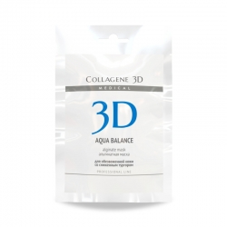 Medical Collagene 3D Aqua Balance - Альгинатная маска для обезвоженной кожи со сниженным тургором, 30 г