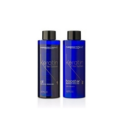 Assistant Professional Keratin Filler System Oil & Booster - Кератиновые филлеры для глубокого восстановления волос (без пигмента) 2*150мл
