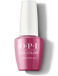 OPI Iceland Gel Color - Гель-Лак для ногтей Aurora Berry-alis (Updated formula), 15 мл