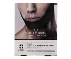 Avajar Perfect V lifting premium black mask - Маска лифтинговая мужская, черная 1 шт