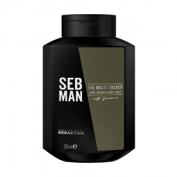 Seb Man THE MULTITASKER 3 в 1 - Шампунь для ухода за волосами, бородой и телом, 250мл