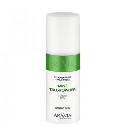 Aravia Professional Mint Talc-Powder - Тальк-пудра охлаждающий с маслом мяты, 150 мл