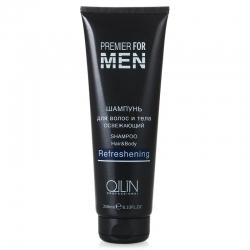 Ollin Premier For Men Shampoo Hair&Body Refreshening - Шампунь для волос и тела освежающий 250 мл