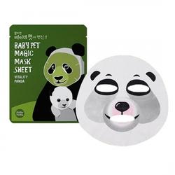 Holika Holika Baby Pet Magic Mask Sheet (Vitality Panda) - Тканевая маска-мордочка против темных кругов под глазами (Панда), 22 мл