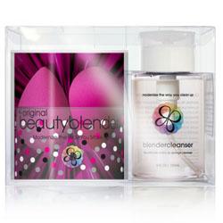 Beauty Blender the Original beautyblender double + cleanser kit - Набор из 2-х розовых спонжей + Очищающий гель