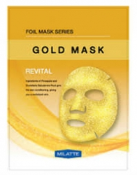 Milatte Gold Mask Revital - Маска на тканевой основе для лица витаминная, 23 гр