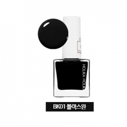 Holika Holika Piece Matching Nails - Lacquer - Лак для ногтей тон BK01, черный, 10 мл