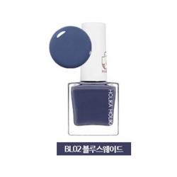 Holika Holika Piece Matching Nails - Lacquer - Лак для ногтей тон BL02, синяя замша, 10 мл