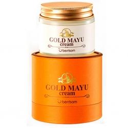 Berrisom Gold Mayu Cream - Омолаживающий крем с лошадиным жиром и золотом, 70гр