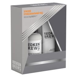 Redken Brews - Набор мужской для бритья (крем для бритья 150 мл, бальзам после бритья 125 мл)
