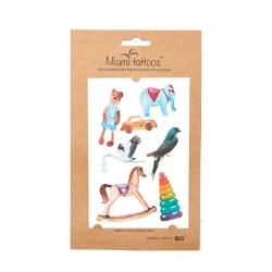 Miami Tattoos Toys - Акварельные переводные тату, 10*15 см