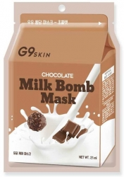 Berrisom G9SKIN Milk Bomb Mask Chocolate - Маска для лица тканевая с экстрактом какао 21 мл