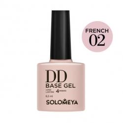 Solomeya DD Base Gel French 02 - Камуфлирующая основа 2 в 1 для классического и французского маникюра French 02, 8мл