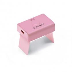 Solomeya - Профессиональная LED лампа (компактная) для полимеризации гель-лаков (3Вт) Розовая